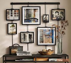 A gallery of assorted frames is a sure shot hit for filling a wall with beautiful Art. An entire wall, or a wall patch at the top of a console or chest, calls for an interesting Artwork like this.