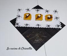 #halloween #crostini #crostinidizucca #crostinigorgonzola #antipasti #hl2019 Crostini, Cards, Maps, Playing Cards