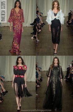 I want pretty: #FashionWeek #Spring2015- #Marchesa & #MoniqueLhuillier