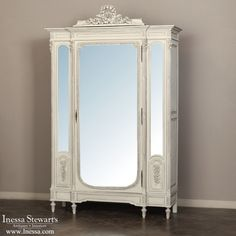 Antique Furniture | Antique Armoires | Formal Armoires | Antique Louis XVI Painted Armoire | www.inessa.com