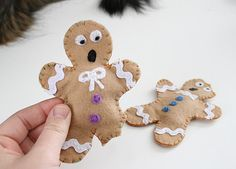 Distressed Gingerbread Man Cat Toys - Dream a Little Bigger