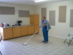 Sheri carrying her baby in the sling while volunteering at Harvest Church, AZ.