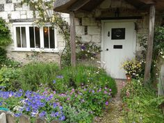 Pretty approach to cottage door