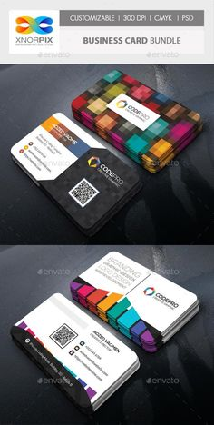 Buy Business Card Bundle by -axnorpix on GraphicRiver. Round /square corner possible. Easy to edit. Professional Business Card Design, Minimal Business Card, Elegant Business Cards, Business Design, Corporate Business, Corporate Design, Buy Business Cards, Business Card Logo, Visiting Card Design