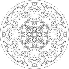 Heart Mandala Coloring Pages