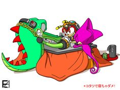 CHAOTIX in KOTATSU by EAMZE on DeviantArt