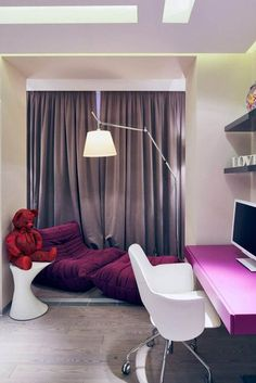 This is a stunning modern apartment interior design trends 2012 by Geometrix Design Architects. The apartment has a large room for the theater space, and has a large living room.