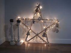 Makkelijk zelf maken - grote houten kerstster