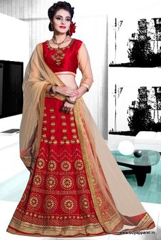 Designer Red Colour Georgette Party Wear Lehenga Choli Buy Sarees
