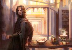 I could imagine this as Felix Thatch from Womby's School for Wayward Witches. I would like this as a book cover. Snape And Hermione, Professor Severus Snape, Harry Potter Severus Snape, Severus Rogue, Harry Potter Anime, Harry Potter Facts, Harry Potter Fan Art, Harry Potter Universal, Severus Snape Fanfiction