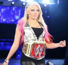 The gorgeous little miss Alexa Bliss the raw women's champion.