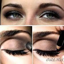 kahverengi göze buğulu göz makyajı ile ilgili görsel sonucu