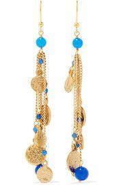 RosanticaGold-tone beaded earrings