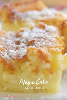 A soft, decadent, and delicious Magic Cake is all you need in parties, potlucks or any family gathering! Definitely a super easy dessert to make and a fun conversation starter because of its name! Cupcakes, Cupcake Cakes, Rose Cupcake, Easy To Make Desserts, Mini Desserts, Easy Delicious Desserts, Easy Cakes To Make, Baking Desserts, Cake Baking