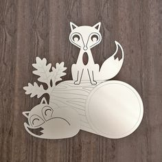 Fox Log Acrylic Mirror by graphicspaceswood on Etsy, $44.00