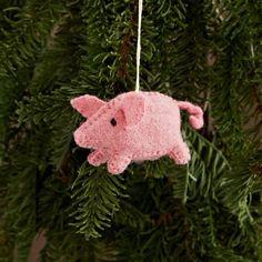West Elm Felt Pig Ornament, $6 | 23 Magical Christmas Ornaments You'll Want Now