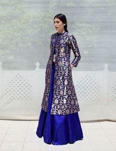 Sanjay Garg lookbook can be made with your old zari sarees