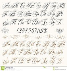 Letras Da Tatuagem Ilustração do Vetor - Imagem: 46980781