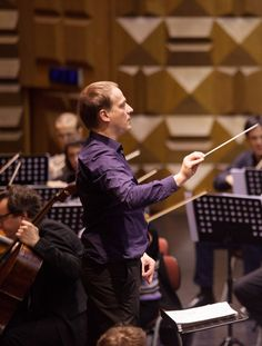 Matthias Manasi in rehearsal with the Orchestra Sinfonica di Roma, Photo: Alessandro Marchese