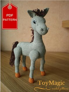 3-in-1 PDF Crochet Pattern - Horse Unicorn Pegasus ToyMagic 5.99 EUR October 16 2015 at 11:54AM