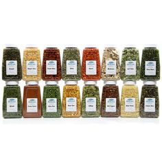 The Vegetable Pantry Stuffer contains our quart size jarS (16 total) of each of the following premium Non-GMO veggies: Broccoli Flowerets, Green Cabbage, Diced Carrots, Sliced Celery, Whole Sweet Corn, Green Beans, Fancy Sliced Mushrooms, Jalapeno Dices, Tangy Green & White Leeks, Chopped White Onions, Green Sweet Peas, Red & Green Bell Pepper Mix, Diced Potatoes, Spinach Flakes, Tomato Dices, Tomato Powder. Try 'em all the easy way by ordering this amazing Pantry Stuffer!