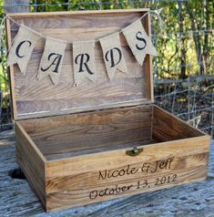en mal estado elegante de la boda, cajas de tarjetas de boda, los titulares de tarjetas de boda, caja tarjeta asegurada, titular de la tarjeta de boda rústico, caja de tarjeta de boda rústico, gran cofre de madera, caja de cartón