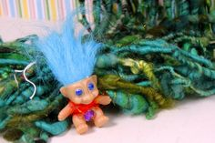 Handspun Art Yarn- Troll Garden- Signature SmoothSpun Artisan Yarn. $68.00, via Etsy.