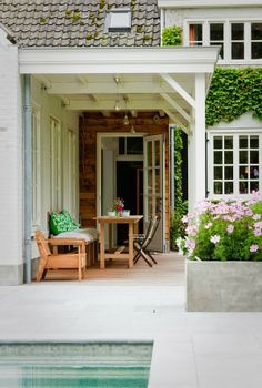 Gorgeous outdoor porch space. Home in The Netherlands.