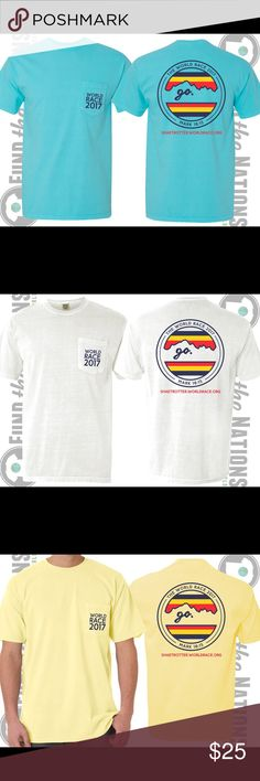 WORLD RACE FUNDRAISING T-SHIRTS I am getting ready to go on an 11-month, 11 country mission trip around the world. The proceeds from these shirts would go directly towards cost and supplies for this trip! Comfort colors Tops Tees - Short Sleeve