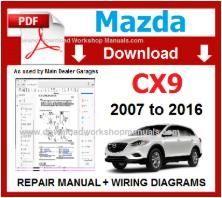 Mazda Cx 9 2007 To 2016 Workshop Manual Repair Manuals Nissan Mazda