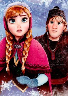 Anna and Kristoff of Disney's Frozen #Kristanna