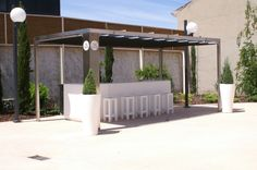 Barra para el cóctel Pergola, Outdoor Structures, Dance Rooms, Barbell, Palaces, Buildings, Gardens, Outdoor Pergola