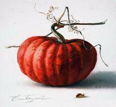 Акварели художницы Базановой Елены. Часть 1. Натюрморты с овощами и грибами - Журнал обо всём
