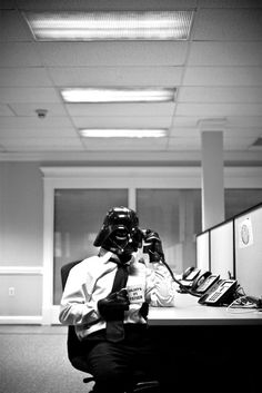 Vader's got some business to do with ya, he's thinking of taking your clients hostage.  However, I think he may be going through some manic episodes. (Perhaps he would do better as one of your clients)