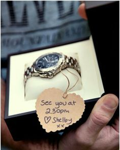 Gift from the Bride to the Groom on their wedding day...so cute
