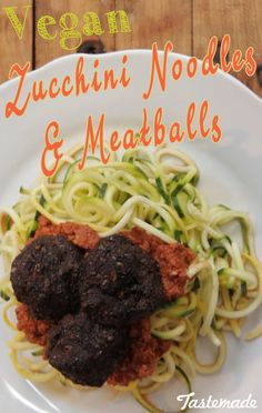 """This pasta ain't your nona's recipe - but it's also way better for you. Add in some amazing sauce and raw vegan """"meatballs"""" and you've got yourself a meal. Buon Appetito!"""