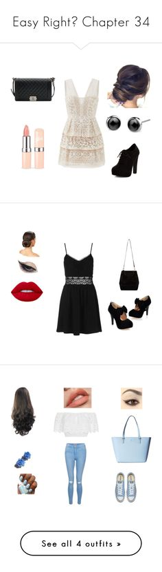 """Easy Right? Chapter 34"" by terra-wendy on Polyvore featuring New Look, Chanel, BCBGMAXAZRIA, Topshop, Mehron, Lime Crime, Miguelina, Tarina Tarantino, Kate Spade and Breckelle's"