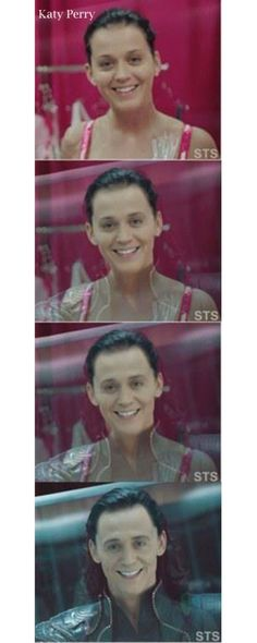 Funny pictures about Katy Perry is Loki. Oh, and cool pics about Katy Perry is Loki. Also, Katy Perry is Loki photos. Katy Perry, Tom Hiddleston, Lol, Just For Laughs, Just For You, Muse, Funny Photoshop, Fandoms, Karen