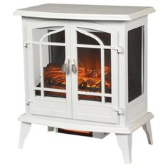 This Hampton Bay Legacy Panoramic Infrared Electric Stove in White is ideal for homes, condominiums, lofts, apartments, and seasonal rooms. Electric Wood Burning Stove, Portable Electric Fireplace, White Electric Fireplace, Electric Fireplace Heater, Electric Fireplaces, Pellet Stove, Pellet Burner, Freestanding Fireplace, Vinyl Plank Flooring