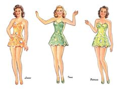 Ziegfeld Girl Paper Dolls - Click to get the whole set.  (Huge Set)