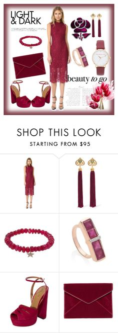 """""""Latest Trend"""" by paige-brrian ❤ liked on Polyvore featuring Shoshanna, Ben-Amun, Sydney Evan, Monica Vinader, Aquazzura, Rebecca Minkoff and Kate Spade"""