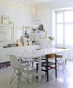 living, table, white, vitra
