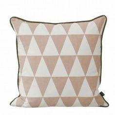 Large Geometry kussen roze