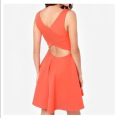 Orange dress Just got this and love it. Like it and you'll be the first to know when I'm ready to part w it. Just cut off tag but haven't worn it yet. Dresses