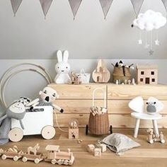 How gorgeous is this kid's room by 👈🏻 Luggy basket, Holdie play house, Toy Chest on wheels and Miffy lamp are all available… Childrens Room Decor, Baby Room Decor, Nursery Room, Kids Decor, Girl Room, Kids Bedroom, Nursery Decor, Miffy Lamp, Kids Room Design
