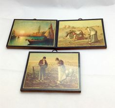Vintage Art Works on Wood  Gift Idea  Graduation Day by Pastfinds