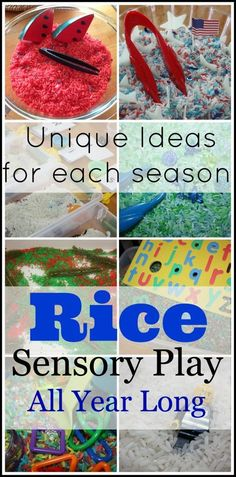 So many great ideas for sensory bins broken down by season and theme! ;) Pinned by The Sensory Spectrum pinterest.com/sensoryspectrum