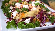 Fargerik salat med hint av Midtøsten Tahini Dressing, Frisk, Butternut Squash, Cabbage, Chicken, Vegetables, Desserts, Tailgate Desserts, Deserts