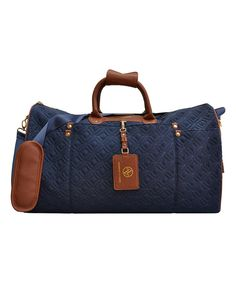 Look at this Adrienne Vittadini Navy Travel Light Quilted Duffel Bag on #zulily today!