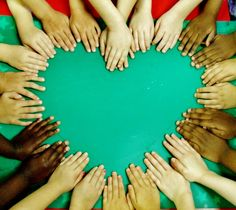 Love this idea of a class photo. I've also seen this done with paint tinted to the appropriate skin colors to make handprint circles or hearts. It is a physical representation of the variety of people in our classroom and how the differences between us make our classroom beautiful.